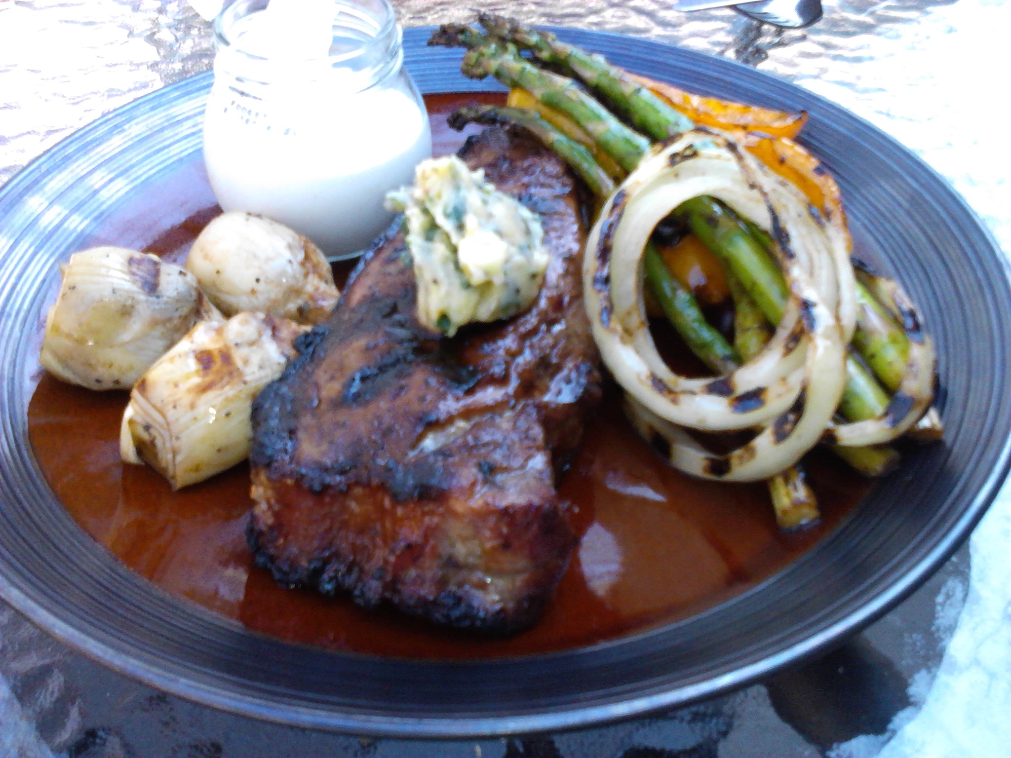 Grilled Steak with Grilled Veggies